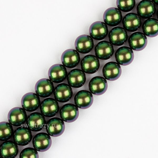 Жемчужины 5810 10 mm Crystal Scarabaeus Green Pearl