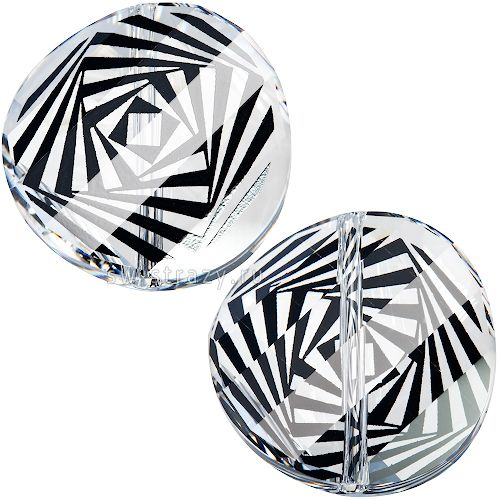 Бусины 5621 18 mm Crystal Zebra Print