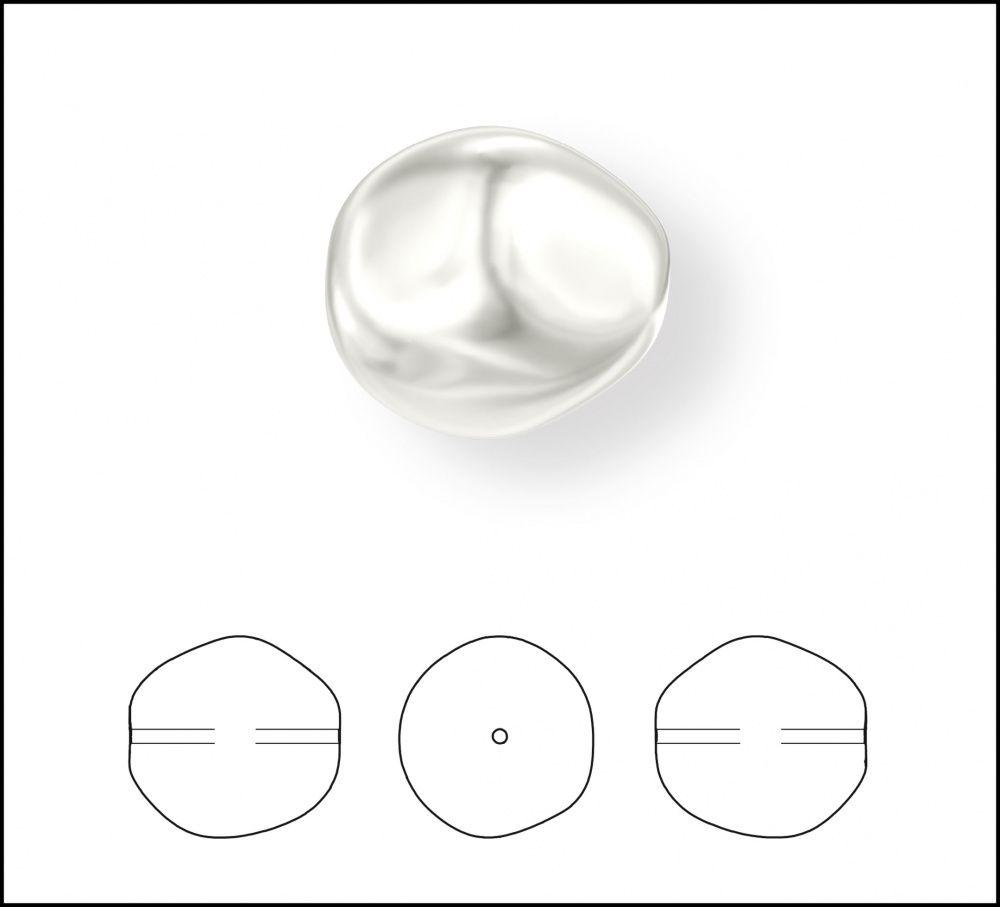 Купить хрустальный жемчуг 5841 Crystal Baroque Round Pearl с доставкой