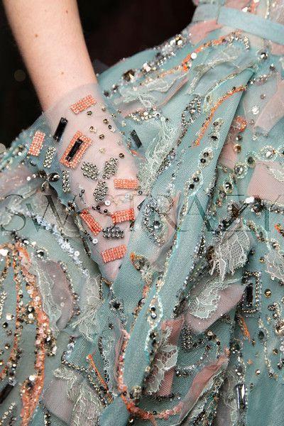 Платье украшенное бисером